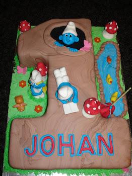 No.1 Smurf Cake