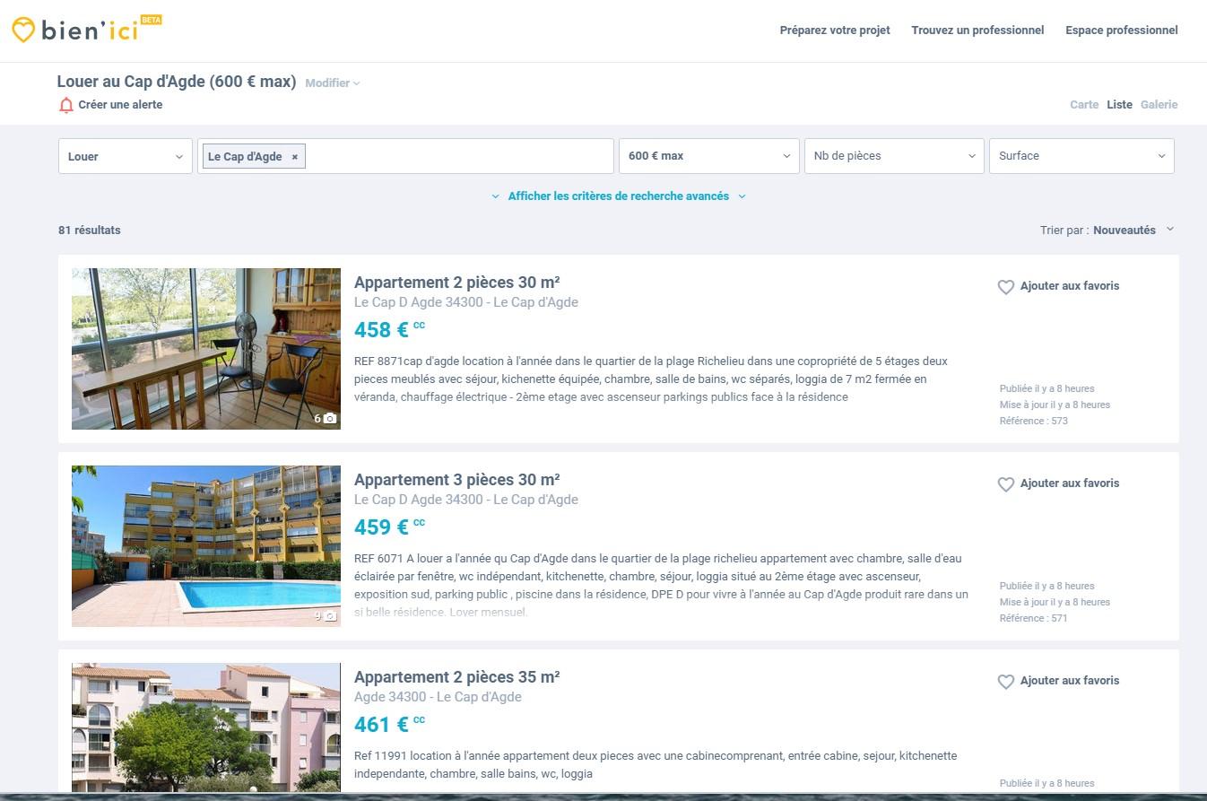 Premier Appartement Liste à infos technos, informatique, vidéos, hifi, photos : ac3 immo