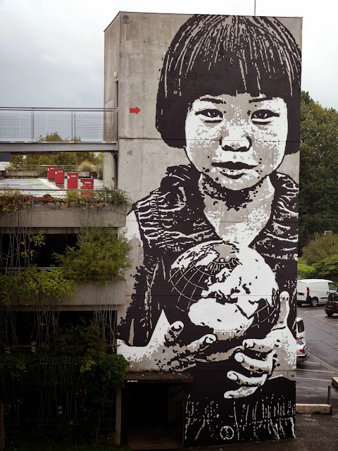 """""""This World Is Your World"""" New Street Art Mural By Jef Aerosol For Keep A Breast in Bordeaux, France. 3"""