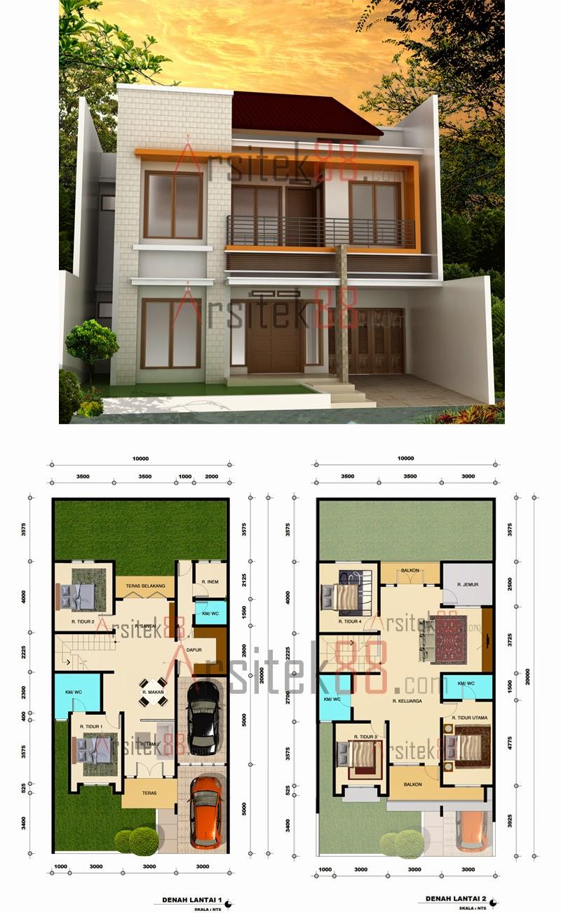 Desain Rumah Minimalis 2 Lantai Beserta Denahnya