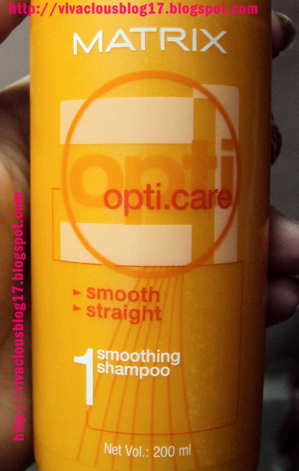 Vivacious Blog Matrix OptiCare Smoothing Shampoo Review