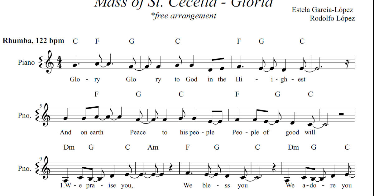 A Mosaic Of Church Melodies: Mass of St. Cecilia - Gloria