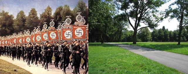 Съезды НСДАП (официальное название — Имперский партийный съезд, Reichsparteitag (инф.)) — партийные конгрессы НСДАП, проходившие в период с 1923 по 1938 год. Начиная с 1927 года местом съездов стал Нюрнберг, начиная с 1933 года они проводились ежегодно на территории съездов НСДАП. Съезды НСДАП должны были продемонстрировать величие германской нации, они стали важным элементом нацистской пропаганды.  Содержание      1 Обзор     2 Список съездов     3 Примечания     4 Ссылки  Обзор  Первый съезд НСДАП открылся в Мюнхене 27 января 1923 года. Несмотря на первоначальный запрет съезда властями Баварии и введённое ими чрезвычайное положение, Гитлер добился разрешения на проведение массовой акции. Съезд состоял из 12 собраний в разных частях города и церемонии возложения знамён на Марсовом поле при участии 5000 штурмовиков[1]. Второй съезд состоялся в Веймаре в 1926 году.  Начиная с 1927 года съезды проходили в Нюрнберге, так как Гитлер считал, что готическая архитектура Нюрнберга наиболее полно воплощает германскую культуру[2]. Главным местом действия были расположенные на окраине города Арена Луитпольда — площадь для демонстраций, вмещавшая до 150 000 человек, и Зал Луитпольда вместимостью до 16 000 человек, в котором проходили собрания. По проекту Альберта Шпеера в этом районе должен был быть создан роскошный комплекс, предназначенный для проведения партийных съездов.  Начиная с 1933 года каждому съезду присваивалось название, определявшее его главную тему. С этого же момента съезды планировались на начало сентября и растягивались на несколько дней. В последние дни съездов проходили парады Гитлерюгенда, СС и СА и Вермахта. В программу поздних съездов входило световое шоу «храм света», для постановки которого Шпеер использовал около 150 зенитных прожекторов[3].  По окончании каждого съезда, начиная с 1927 года, создавались пропагандистские документальные фильмы. В 1933—1935 режиссёром этих фильмов была Лени Рифеншталь, а фильм «Триумф воли», посвящённый шестому съезду, до