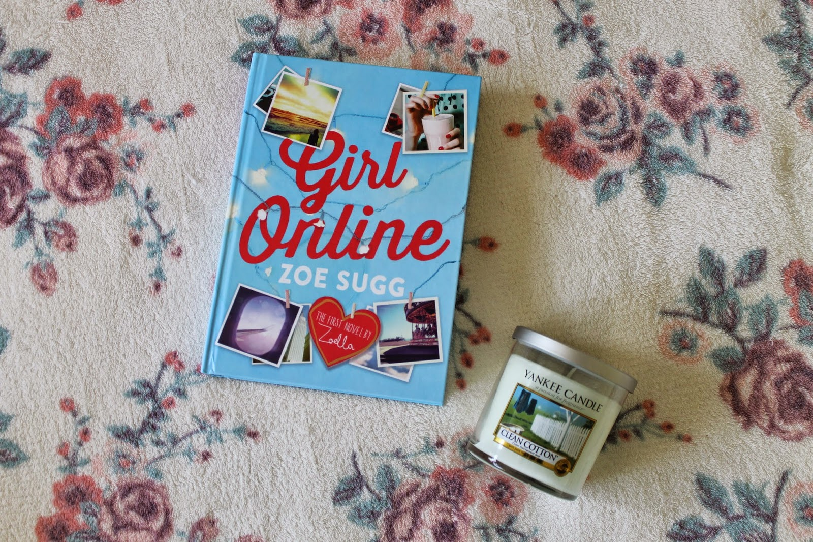 Girl Online Book by Zoe Sugg and Yankee Candle in Clean Cotton Christmas Presents 2014