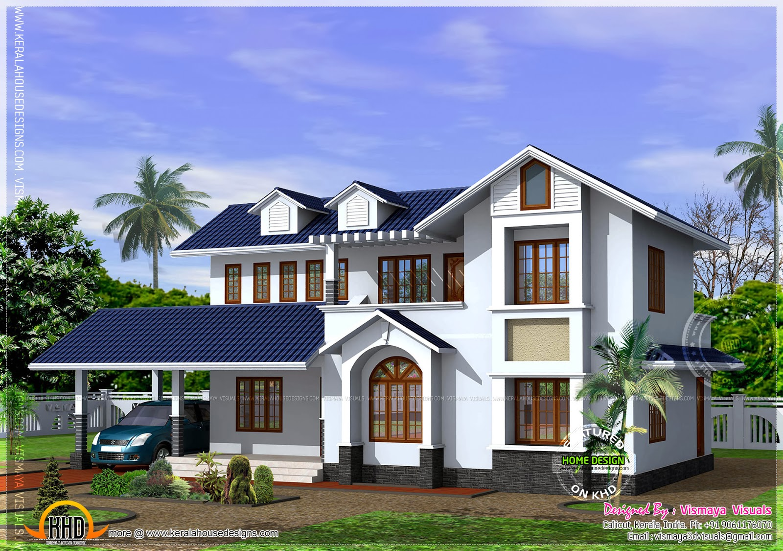 Kerala style house with free floor plan kerala home for Www kerala house plan free