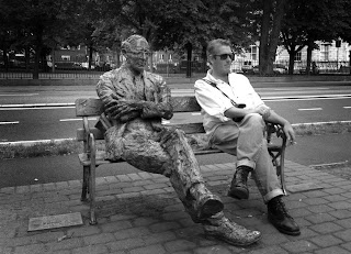 Myself and Paddy Kavanagh on the banks of the canal (Photo: Jim Lowney)