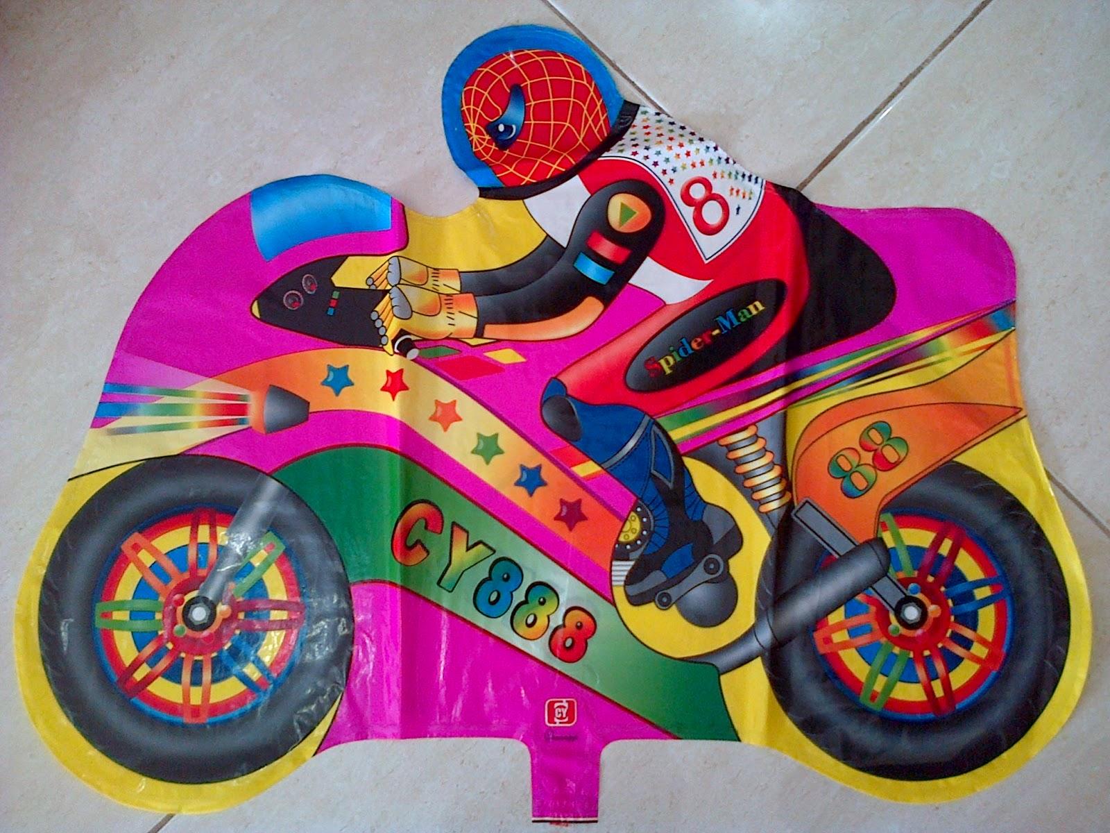 Balon Character Motor Spiderman Pink Anugerah Utama Toys Motif Ultraman