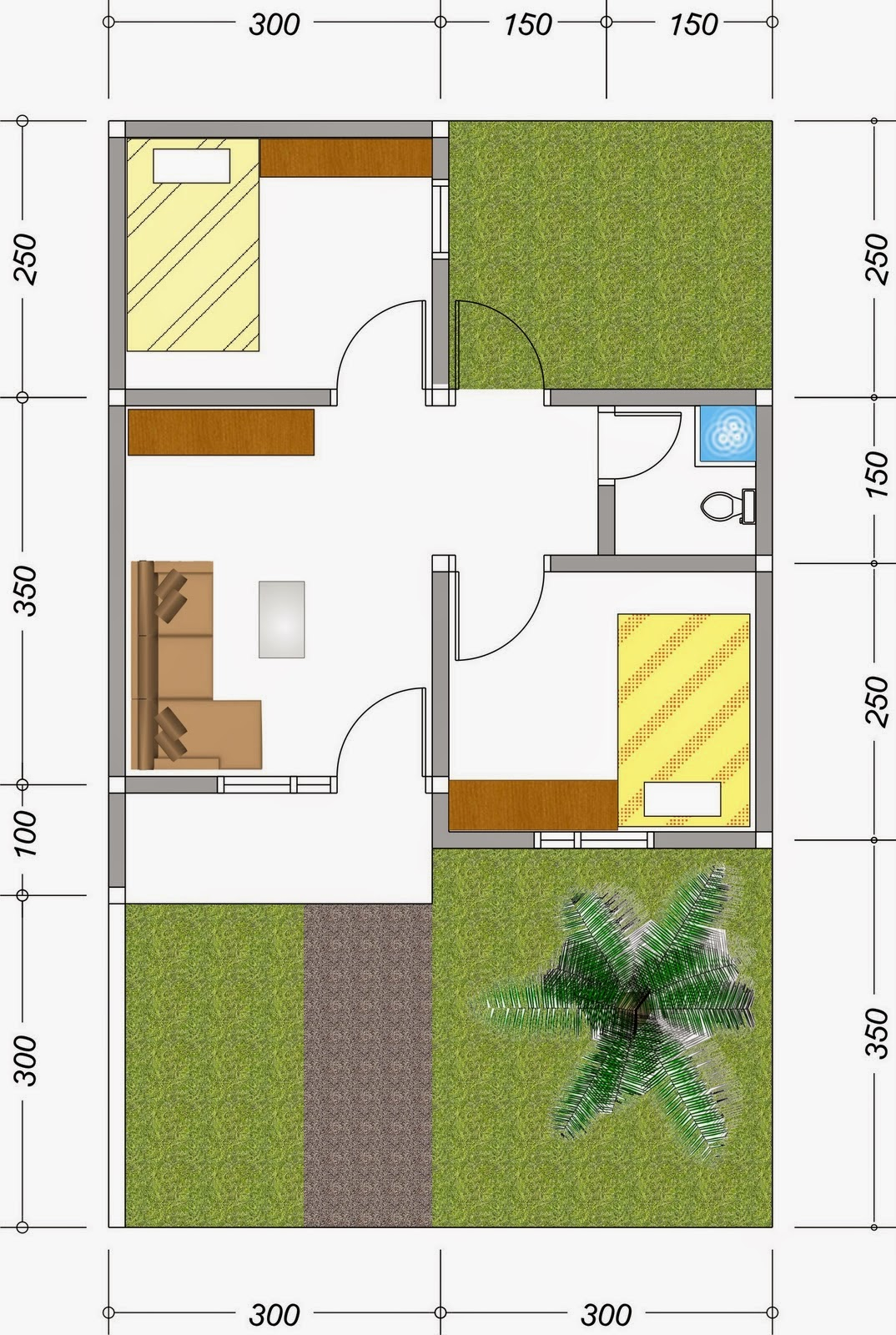 Desain Rumah Minimalis Sederhana Dan Elegan Untuk Tipe 36