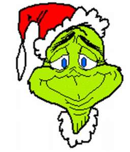 And the grinch with his grinch feet ice cold in the snow stood