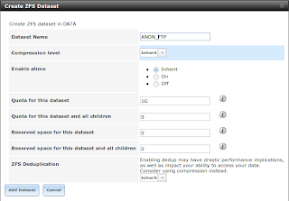 ZFS dataset untuk FTP