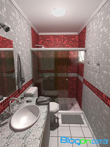decoracao banheiro pastilhas: banheiros pequenos com pastilhas, Dicas de decoração de banheiros