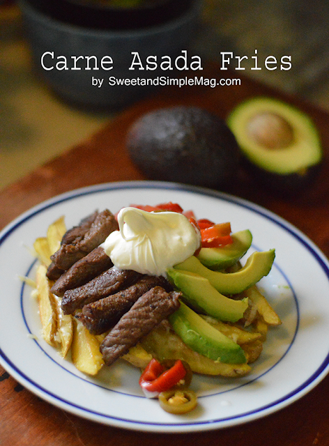 Sweet and Simple Magazine: Recipe for Carne Asada Fries * Food & Drink