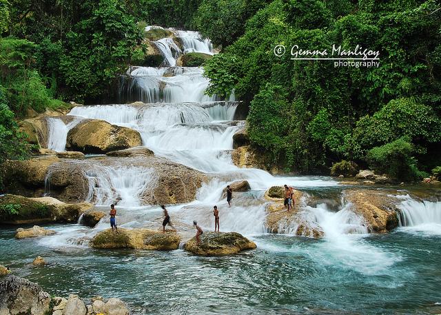Filipinas Beauty Majestic Aliwagwag Falls Davao Oriental
