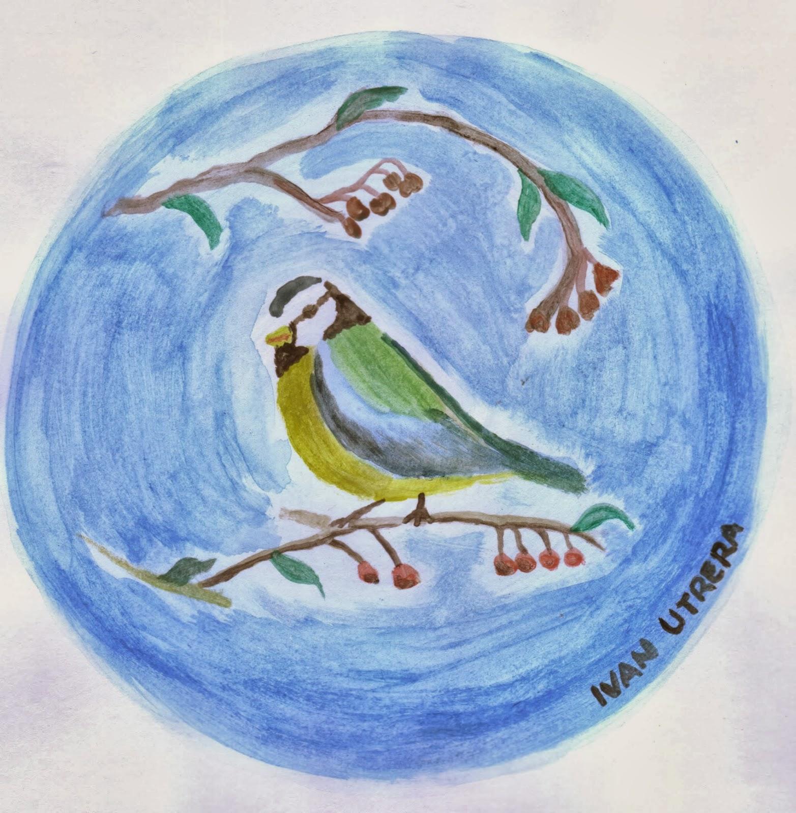 pájaro en acuarela   Dibujo a lápiz, Reciclaje, Tallado en Madera