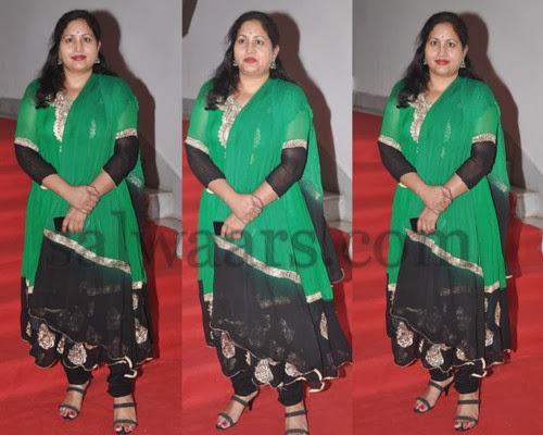 Rajitha Black and Green Salwar