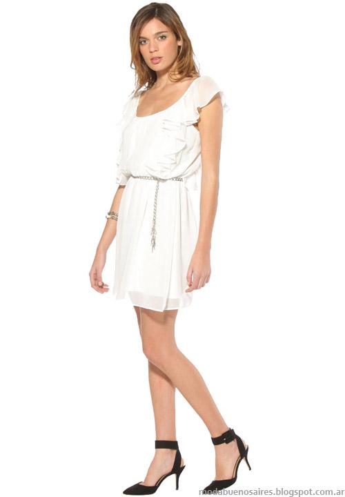 Vestidos cortos blancos verano 2014. Moda 2014.