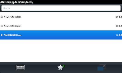 Cara Mengganti Font BlackBerry OS 7