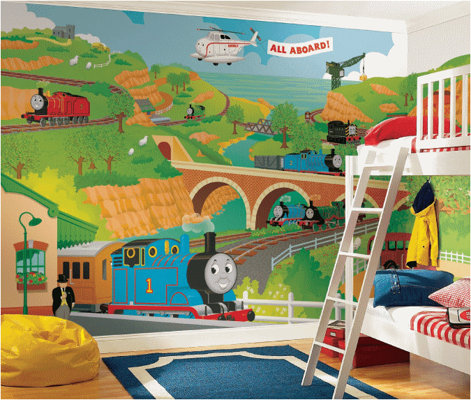 Boys transportation bedrooms room design ideas for Boys room mural