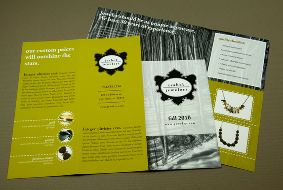 jewelry brochure samples -101greatbrochures