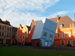 Upside down house in Lille, France