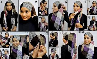 cara-memakai-jilbab-modern