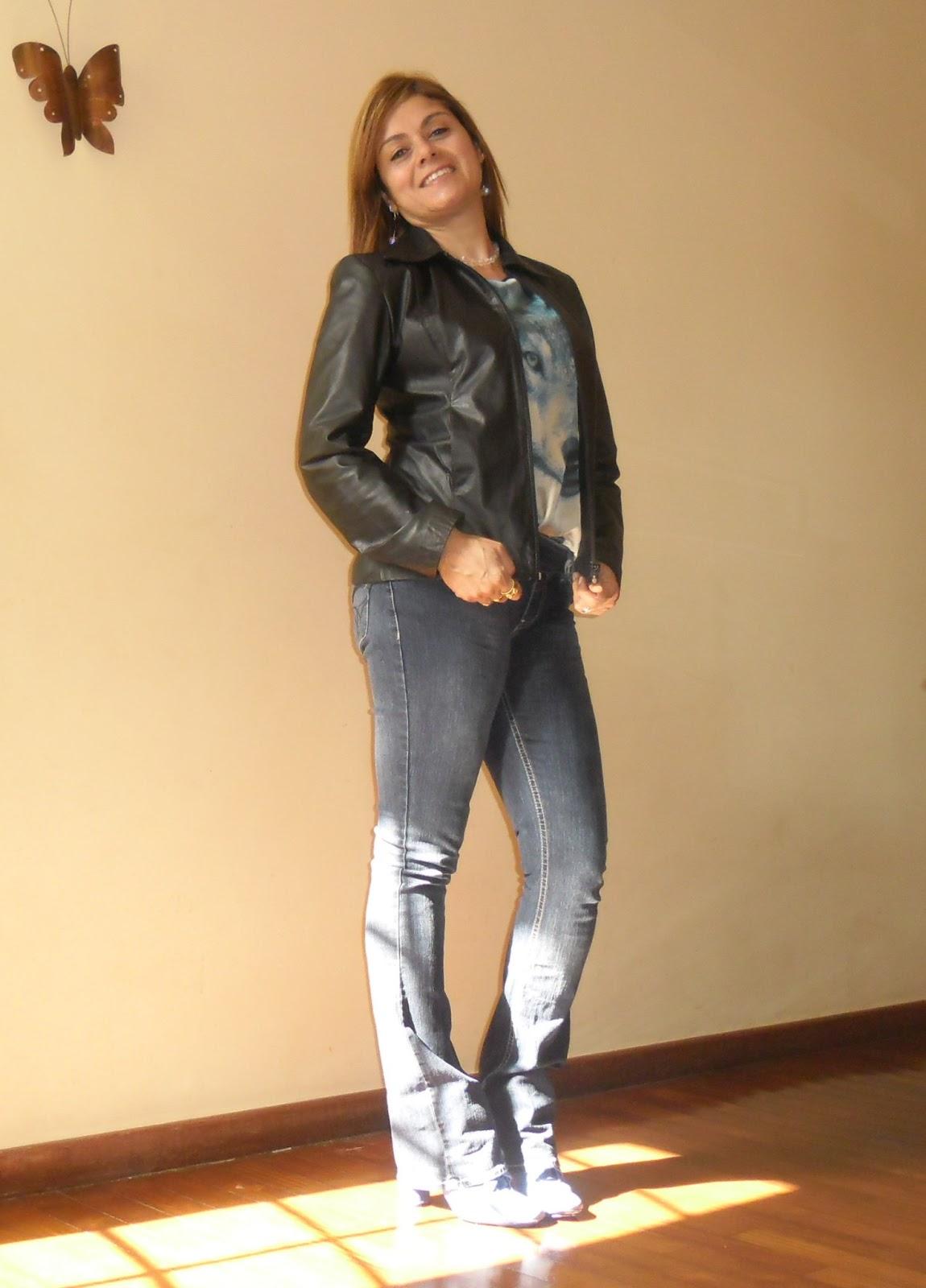 Look do dia-jaqueta de couro