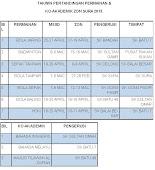 Takwim Permainan & Ko-Akademik Zon Sura 2015