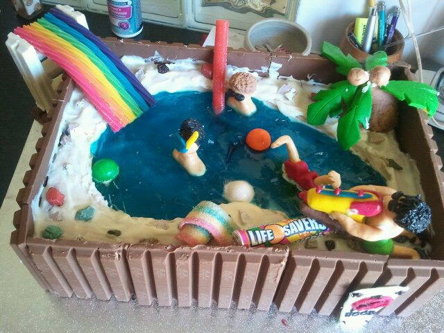 Heaven On A Plate This Is How You Make A Swimming Pool Cake