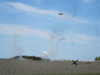 D-Day WWII Reenactment, B-25 Bombing Run