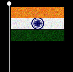 Indian flag on black background