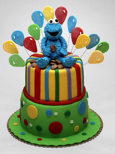 Cookie Monster Birthday Cake London