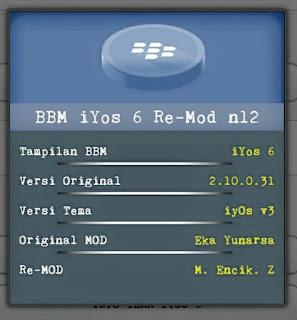 BBM Mod IYOS V 2.10.0.31 Apk Terbaru