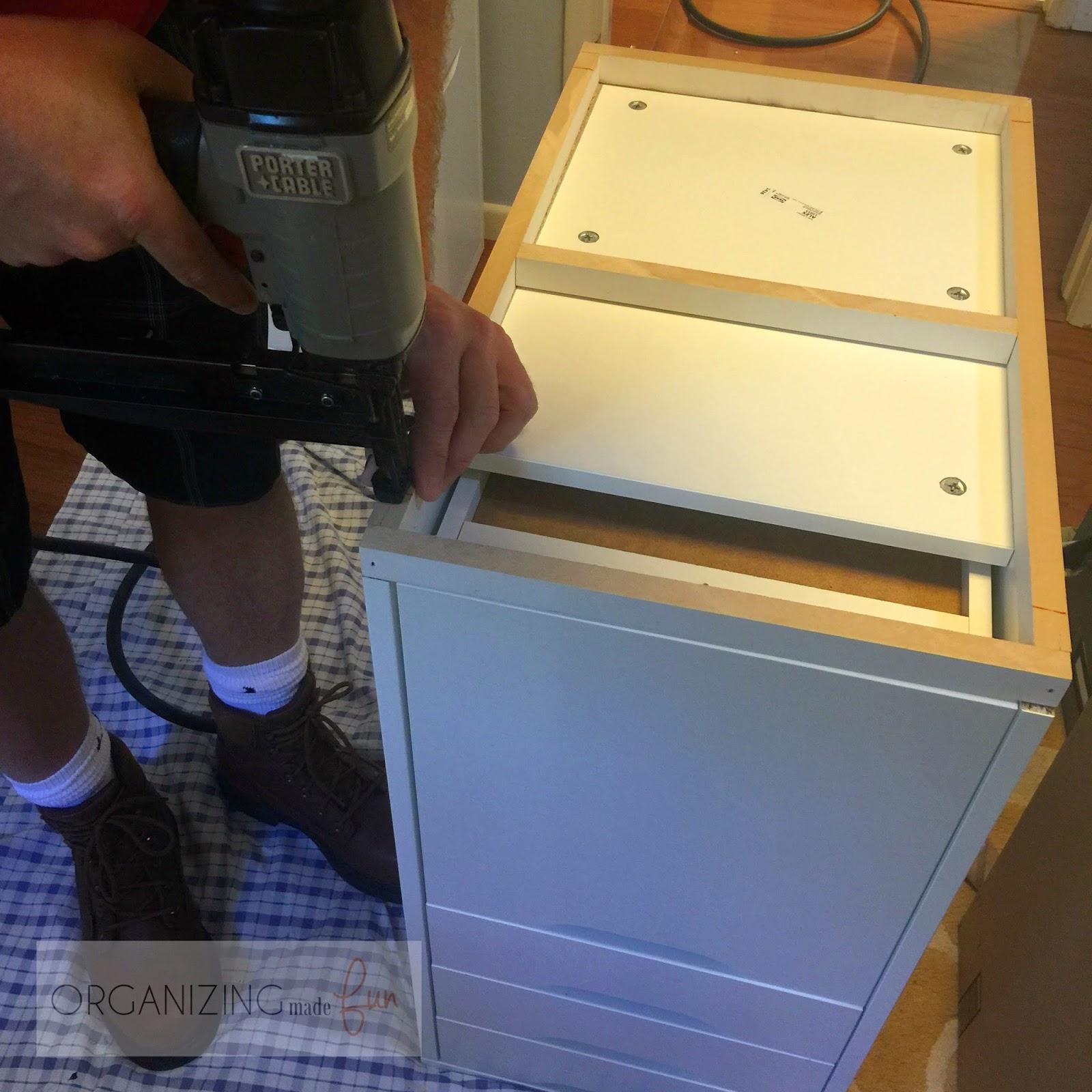 Ways to make the cabinets level :: OrganizingMadeFun.com