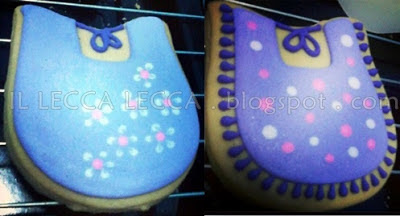 baby bip pink purple white theme fancy cookies
