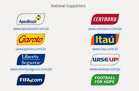 FIFA World Cup 2014 Brazil Sponsors