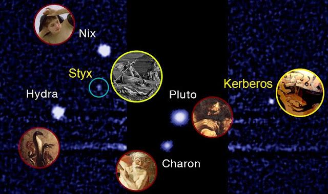 Hai vệ tinh nhỏ nhất của Pluto đã có tên chính thức. Credit: SETI.