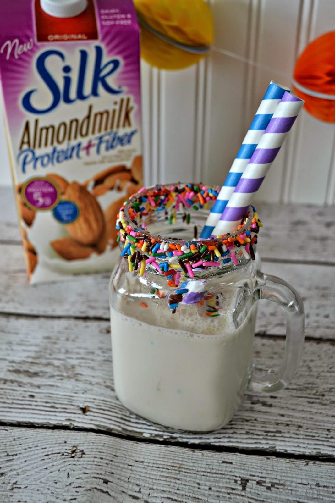 Birthday Cake Milk Shake Recipe with Almond Milk Building Our Story