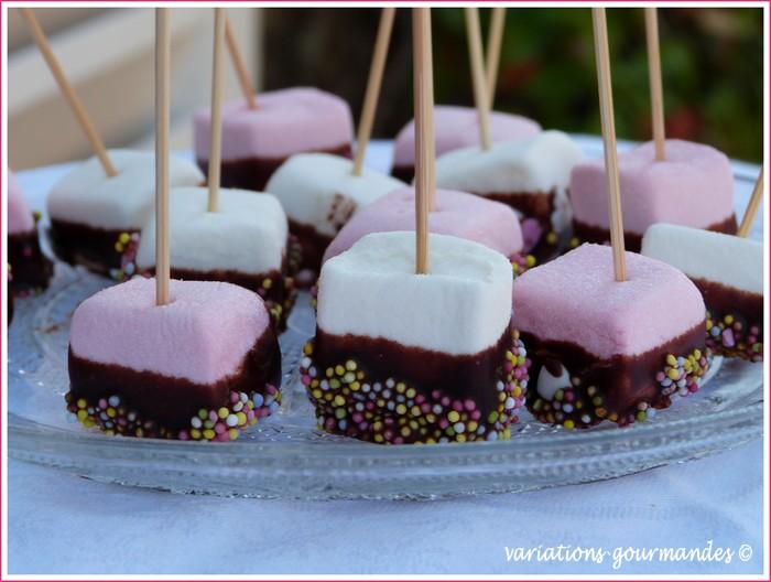 Variations gourmandes sucettes de chamallows au chocolat by lisa - Sucette au chocolat ...