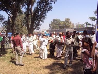 Tharu stick dance in Stone Festival