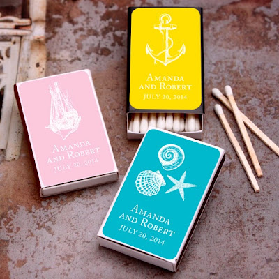 Favors and Flowers nautical silhouette personalized matches