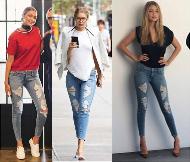 Gigi Hadid Ripped Jeans