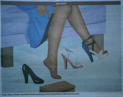The Sussex Express Featured the L. E. Gav Thorpe painting 'Them, These or Those'.