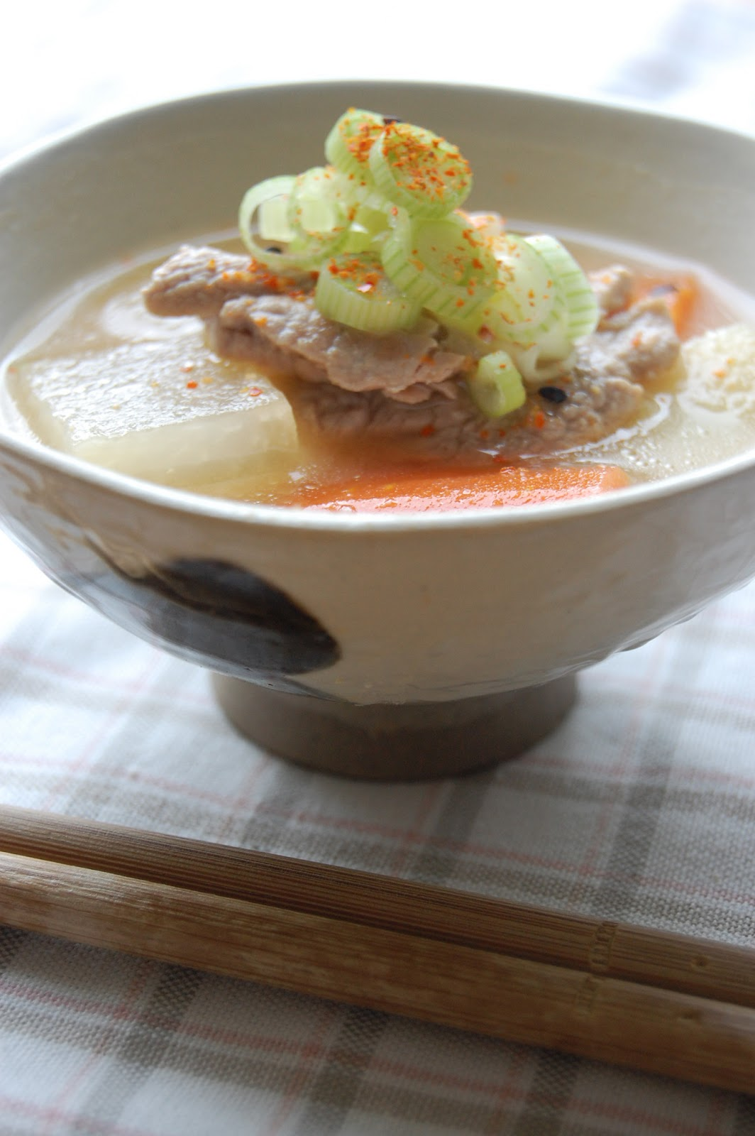 Fiona's Japanese Cooking: JAPANESE TONJIRU RECIPE - PORK SOUP