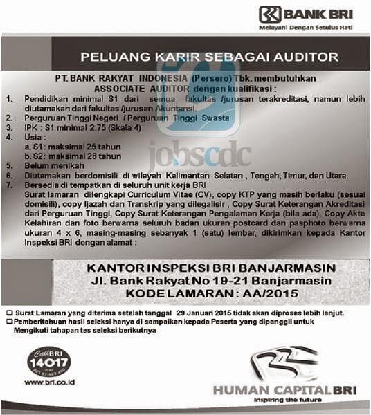 Lowongan Kerja PT. Bank Rakyat Indonesia Tbk - S1 S2 Semua