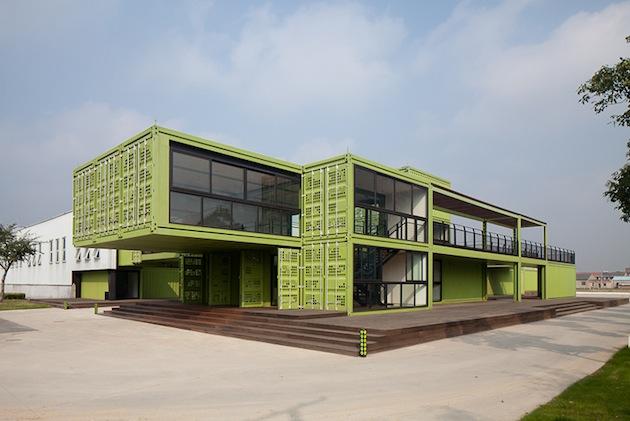 Shipping container homes tony 39 s farm playze shanghai china 78 shipping containers - Container home architects ...
