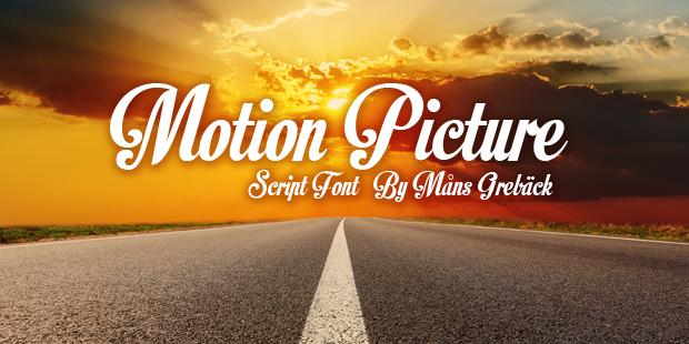 35 Font Script untuk Desain grafis - Motion Picture Script Font
