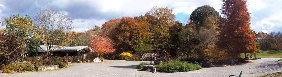 Ijams Visitor Center in autumn