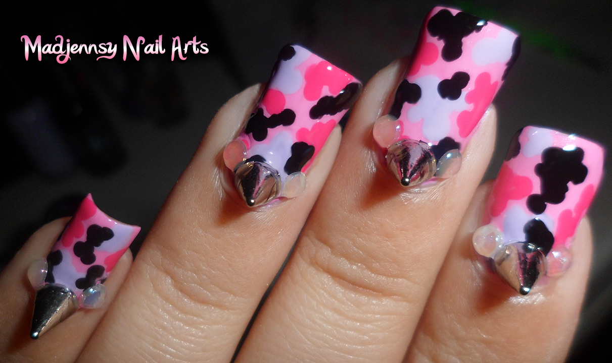 Displaying 19> Images For - Pink Camo Nail Designs...