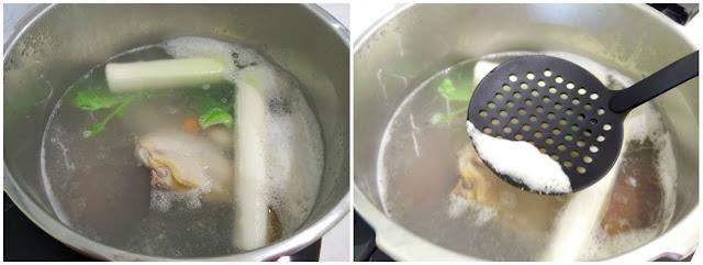 Espumar el caldo