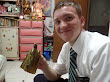 Eating suman (sticky rice in banana leaf)